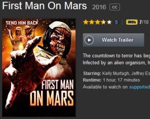 first man on mars video on demand